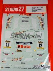 Studio27: Decals 1/24 scale - Subaru Impreza WRX SELENIA BETA - Parodi + Zanatta - San Marino Rally 2000