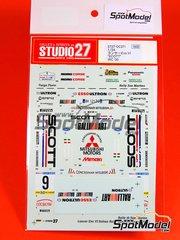 Studio27: Decals 1/24 scale - Mitsubishi Lancer Evo VI SCOTT Ralli Art #9 - Acerbis + Agostinelli - Sanremo Rally 2000