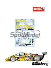 Studio27: Marking / livery 1/24 scale - Toyota 88C taka-Q #37 - 24 Hours Le Mans 1988 - water slide decals and assembly instructions - for Hasegawa references 20236 , CC02, CC-02, CC-2 and CC-5