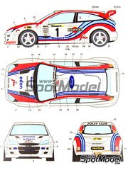 Studio27: Decals 1/24 scale - Ford Focus WRC Jolly Club #1 - Enrico Bertone (IT) + Massimo Chiapponi (IT) - Condroz Rally 2000