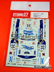 Studio27: Decals 1/24 scale - Mitsubishi Lancer Evo VI Cordoba #35 - Gabriel Pozzo (AR) + Rodolfo Amelio Ortiz (AR) - Acropolis rally 2000