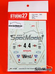Studio27: Decals 1/24 scale - Lancia Rally 037 West Martini Galup - Carlo Capone (IT) + Sergio Cresto (US) - Costa Esmeralda Rally 1984 - for Hasegawa or Revell kits