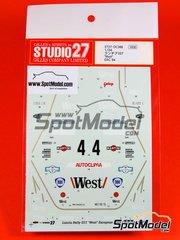 Studio27: Decals 1/24 scale - Lancia Rally 037 West Martini Galup - Carlo Capone (IT) + Sergio Cresto (US) - Costa Esmeralda Rally 1984 - for Hasegawa or Revell kits