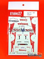 Studio27: Decals 1/24 scale - Lancia 037 Rally Eminence - Daniche + Alain Mahé (FR) - Tour de France Automobile 1983 - for Hasegawa kits 25030, 20264