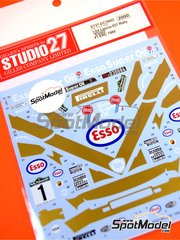 Studio27: Decoración escala 1/24 - Lancia 037 Rally ESSO Nº 1 - Fabrizio Tabaton (IT) + Luciano Tedeschini (IT) - Rally Piancavallo 1985 - calcas de agua y manual de instrucciones - para las referencias de Hasegawa 20264, 20277, 20299, 25030 y HACR30