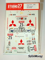 Studio27: Decals 1/24 scale - Mitsubishi Lancer Evo VI Ralli art #25 - Andrea Aghini (IT) - Sanremo Rally 2000