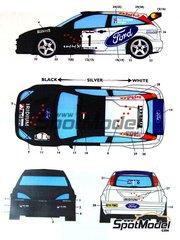 Studio27: Decals 1/24 scale - Ford Focus WRC Iridium #1 - Ben Sulayem (AE) + Morgan - Jordan Rally 1999