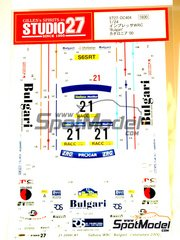 Studio27: Decals 1/24 scale - Subaru Impreza WRC BULGARI Telefonica Movistar - Andrea Dallavilla (IT) + Danilo Fappani (IT) - Catalunya Costa Dorada RACC Rally 2000