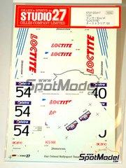 Studio27: Decals 1/24 scale - Mitsubishi Lancer Evo VI Loctite #40, 54 - Erik Comas (FR) + Terrasse - Australian Rally 2000