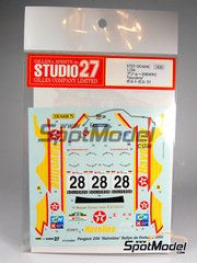 Studio27: Decals 1/24 scale - Peugeot 206 WRC Havoline #28 - Ioannis Papadimitriou (GR) + Chris Patterson (GB) - Portugal Rally 2001 - for Tamiya references TAM24267 and 24267