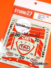 Studio27: Marking / livery 1/24 scale - Porsche 962C FATurbo #20 - Tim Lee-Davey (GB) - FIA World Sports-Prototype Championship - WSPC 1990 - for Tamiya references TAM24089, TAM24233 and TAM24313