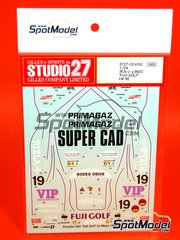 Studio27: Marking / livery 1/24 scale - Porsche 962 Fuji Golf Primagaz Super Cad Rizla #19 - Max Cohen-Olivar (MA) + Katsunori Iketani (JP) - 24 Hours Le Mans 1990 - for Tamiya references TAM24233 and TAM24313