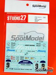 Studio27: Marking 1/24 scale - Porsche 962 Mizuno #9 - Louis 'John Winter' Krages (DE), Stanley Dickens (SE), Robert 'Bob' Wollek (FR) - 24 Hours Le Mans 1990 - for Tamiya kits TAM24233 and TAM24313