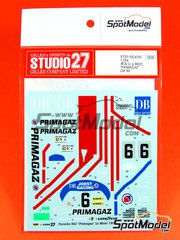 Studio27: Marking 1/24 scale - Porsche 962 Primagaz #6 - Henri Pescarolo (FR), Jacques Laffite (FR), Jean-Louis Ricci (FR) - 24 Hours Le Mans 1990 - water slide decals and assembly instructions - for Tamiya kits TAM24233 and TAM24313