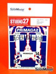 Studio27: Marking / livery 1/24 scale - Porsche 962 Primagaz - Antoine Salamin (CH), Max Cohen-Olivar (MA), Marcel Tarrès (FR) - 24 Hours Le Mans 1991 - for Tamiya references TAM24233 and TAM24313
