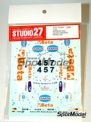 Studio27: Marking / livery 1/24 scale - Subaru Impreza WRC Beta Team - Jean Alesi (FR) + Alessandro 'Alex' Zanardi (IT) - Monza Rally 2000 - water slide decals and assembly instructions - for Tamiya references TAM24218 and 24218
