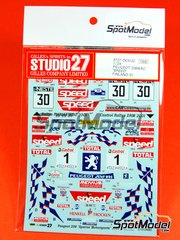 Studio27: Decals 1/24 scale - Peugeot 206 WRC SPEED 2001 Sperrer Motorsports - Sperrer + Ingvar Carlsson (SE) - 1000 Lakes Finland Rally 2001 - for Tamiya kit TAM24267