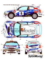 Studio27: Decals 1/24 scale - Toyota Corolla WRC Gulf Nokia #6 - Jesús Puras (ES) + Marc Martí (ES) - Orense Rally 2001