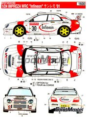 Studio27: Model kit 1/24 scale - Subaru Impreza WRX Infineon #30 - Sanremo Rally, Tour de Corse 2001