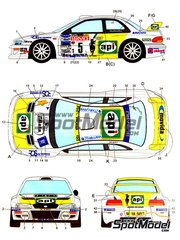 Studio27: Decals 1/24 scale - Subaru Impreza WRC API #5 - Andrea Aghini (IT) + Loris Roggia (IT) - Sanremo Rally 2001