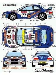 Studio27: Decals 1/24 scale - Subaru Impreza WRX OLDRATI Procar #77 - Oldrati + Danilo Fappani (IT) - Sanremo Rally 2001