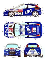Studio27: Marking / livery 1/24 scale - Ford Focus RS ERG #21 - Paolo Andreucci (IT) + Alessandro Giusti (IT) - Sanremo Rally 2001 - water slide decals and assembly instructions