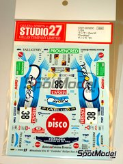Studio27: Marking / livery 1/24 scale - Mitsubishi Lancer Evo VI Cordoba #38 - Gabriel Pozzo (AR) + Daniel Stillo (AR) - Sanremo Rally 2001 - water slide decals and assembly instructions