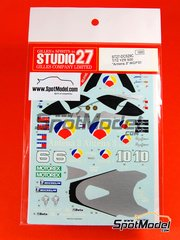 Studio27: Decals 1/12 scale - Yamaha YZR500 Antena3 - Norifumi 'Norick' Abe (JP), Jose Luis Cardoso (ES) - World Championship 2001