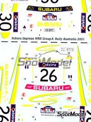 Studio27: Decals 1/24 scale - Subaru Impreza WRC #26, 30 - Cody Crocker (AU) + Greg Foletta (AU), Achim Mörtl (AT) + Stefan Eichhorner (AT) - Australian Rally 2001