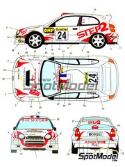 Studio27: Decals 1/24 scale - Toyota Corolla WRC STEP2 #24 - Didier Auriol (FR) + Jacques 'Jack' Boyère (FR) - Montecarlo Rally 2002