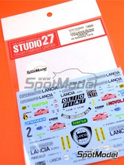 Studio27: Decals 1/24 scale - Lancia Stratos HF Concessionari Lancia #2 - Manini + Tony - Sanremo Rally 1979 - for Hasegawa kits 20217, 20261, 20268, 20282, 25032, HACR32 and HACR33, or Italeri kit 3654