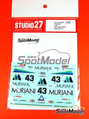 Studio27: Decals 1/20 scale - Williams Ford FW07 Murjani - Desiré Wilson (ZA) - British Grand Prix 1980