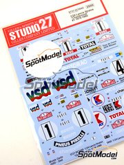 Studio27: Decals 1/24 scale - Lancia Stratos HF Chardonett #1, 4, 10 - Bernard Darniche (FR) + Alain Mahé (FR) - Montecarlo Rally, Tour de Corse 1978, 1979 and 1980 - for Hasegawa references 20217, 20261, 20268, 20282, 25032, HACR32 and HACR33