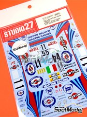 Studio27: Decals 1/24 scale - Lancia Super Delta Deltona HF Integrale Marlboro #1, 4, 11 - Montecarlo Rally, Sanremo Rally 1992 - for Hasegawa kits 25015, HACR13 and HACR15