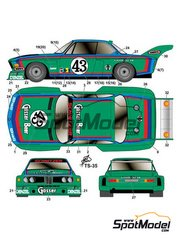 Studio27: Marking / livery 1/24 scale - BMW 3.5 CSL Gosser Beer #43 - 24 Hours Le Mans 1976