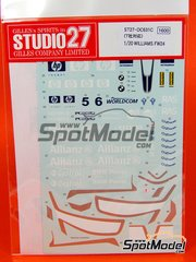 Studio27: Decals 1/20 scale - Williams FW24 BMW Compaq Fedex Allianz #5, 6 - World Championship 2002