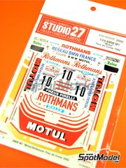 Studio27: Marking / livery 1/24 scale - BMW M1 Group 4 Rothmans Motul #10 - Bernard Darniche (FR) + Alain Mahé (FR) - Tour de Corse 1982 - water slide decals and assembly instructions - for Revell references REV07247, 07247 and 80-7247 image