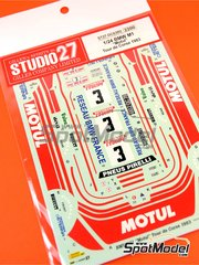 Studio27: Marking / livery 1/24 scale - BMW M1 Motul #3 - Bernard Béguin (FR) - Tour de Corse 1983 - water slide decals and assembly instructions - for Revell reference REV07247