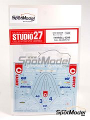 Studio27: Decals 1/20 scale - Tyrrell 020B #3 - Italian Formula 1 Grand Prix 1992