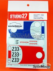 Studio27: Marking / livery 1/24 scale - Toyota 2000GT Shelby American GoodYear #23, 33 - Scooter Patrick (US) + Dave Jordan (US) - Manufacturers championship 1968 - water slide decals and assembly instructions - for Hasegawa reference 20327