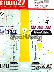 Studio27: Marking / livery 1/24 scale - McLaren F1 GTR  EMI Ueno Clinic #40 - Steve O'Rourke (GB) + Tim Sugden (GB) + Auberlen (US) - 24 Hours Le Mans 1998