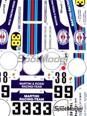 Studio27: Marking / livery 1/24 scale - Porsche 917K Martini #3, 8 , 9 - Vic Elford (GB), Gijs van Lennep (NL) + Gérard Larrousse (FR) - 12 Hours Sebring 1971 - water slide decals and assembly instructions