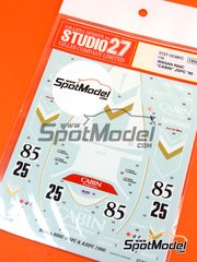 Studio27: Marking / livery 1/24 scale - Nissan R89C Cabin #25, 85 - Takao Wada (JP) + Kenneth 'Kenny' Acheson (GB), Takao Wada (JP) + Osamu Nakako (JP) - 6 Hours Fuji, 500 Kms Fuji 1990 - for Tamiya reference TAM24093