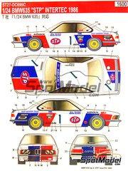 Studio27: Decoración escala 1/24 - BMW 635 Csi STP Nº 1 - Naoki Nagasaka (JP) + Kazuo Mogi (JP) - InterTec 1986 - calcas de agua y manual de instrucciones - para kit de Tamiya TAM24322