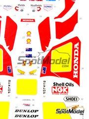 Studio27: Decals 1/12 scale - Honda NS500 NGK #5, 3 - Wayne Gardner (AU) - World Championship 1984