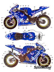 Studio27: Decals 1/12 scale - Yamaha YZR-M1 Gauloises #4 - Alex Barros (BR) - Pacific Moto GP Grand Prix 2003 - for Studio27 reference ST27-TK1216C
