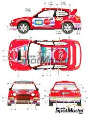 Studio27: Decals 1/24 scale - Toyota Corolla WRC Alice #46 - Valentino Rossi (IT) + Carlo Cassina (IT) - Monza Rally 2004