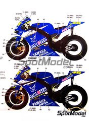 Studio27: Decals 1/12 scale - Yamaha YZR-M1 Gauloises #5, 46 - Valentino Rossi (IT), Colin Edwards (US) - Spanish Moto GP Grand Prix 2005 - for Tamiya references TAM14115 and 14115
