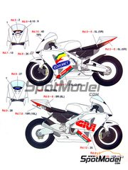 Studio27: Decals 1/12 scale - Honda RC211V Givi Eurobet #27 - Motorcycle World Championship 2006 - for Tamiya kit