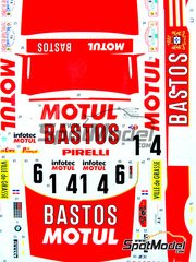 Studio27: Marking / livery 1/24 scale - BMW M3 E30 Bastos Motul Infotec #6, 14 - Francois Chatriot (FR) + Michel Perin (FR) - Tour de Corse 1989 - water slide decals and assembly instructions - for Beemax Model Kits references B24007, Aoshima 098196, B24016 and B24019
